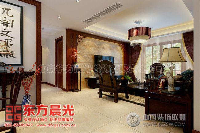 中式别墅装修设计气宇非凡中式客厅装修图片
