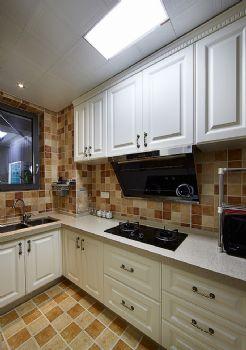 95平美式装修案例美式厨房装修图片