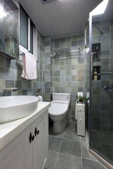86平美式混搭设计美式卫生间装修图片