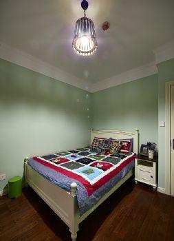 86平美式混搭设计美式卧室装修图片