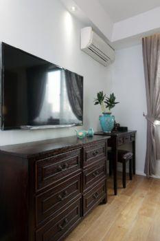 86平美式混搭设计美式客厅装修图片