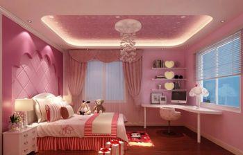 卧室窗帘效果图田园卧室装修图片
