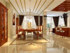 成都尚层装饰别墅装修设计师欧美风格案例推荐(十三)欧式餐厅装修图片
