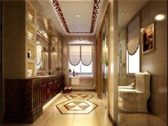 成都尚层装饰别墅装修设计师欧美风格案例推荐(十三)欧式卫生间装修图片