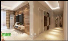 100平现代简约温馨三居室现代卧室装修图片