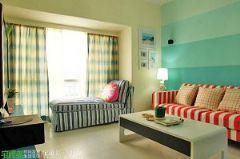 甜美元素装饰空间 清新田园风100平田园客厅装修图片