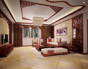 客廳地磚瓷磚效果圖