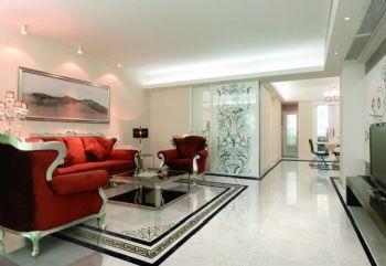 客厅地砖瓷砖效果图现代客厅装修图片