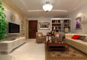 客厅地砖瓷砖效果图现代风格客厅装修图片