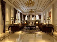 成都尚层装饰别墅装修设计师案例欣赏欧美风格(十四)欧式客厅装修图片