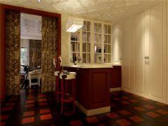 成都尚层装饰别墅装修设计师案例欣赏欧美风格(十四)欧式过道装修图片