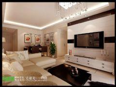 东紫园  宅速美装修设计  现代简约   87平现代客厅装修图片