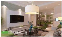 美加印象 芜湖宅速美装饰 110平 现代简约现代客厅装修图片