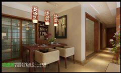 柏庄香府  130平  中式风格   宅速美装修设计古典餐厅装修图片