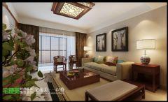柏庄香府  130平  中式风格   宅速美装修设计古典客厅装修图片