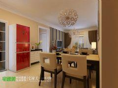 伟星幸福里90平时尚简约两居室装修效果图简约餐厅装修图片