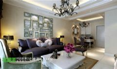 春天里90平简欧两居室装修效果图欧式客厅装修图片