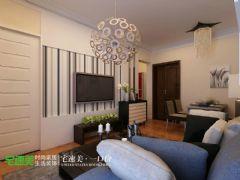 玲珑湾80平时尚简约2居室装修效果图简约餐厅装修图片