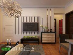 玲珑湾80平时尚简约2居室装修效果图简约客厅装修图片