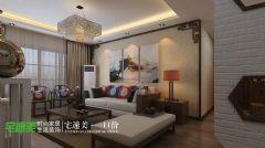 中央城115平新中式装修效果图中式厨房装修图片