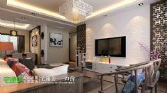 中央城115平新中式装修效果图中式风格三居室