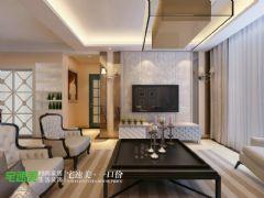 荷塘月色89平简欧风3居室装修效果图欧式客厅装修图片