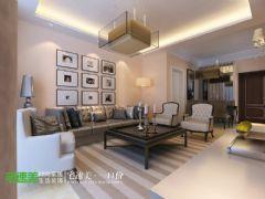 荷塘月色89平简欧风3居室装修效果图欧式风格小户型