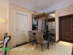 荷塘月色89平简欧风3居室装修效果图欧式餐厅装修图片