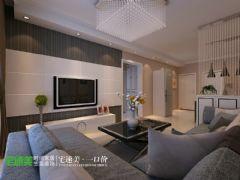 上林春天里100平简约三居室装修效果图简约客厅装修图片