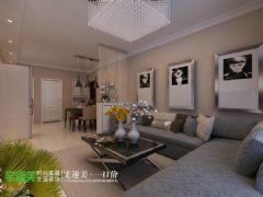 上林春天里100平简约三居室装修效果图简约风格三居室