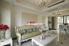 广电兰亭都荟91平米欧式客厅装修图片