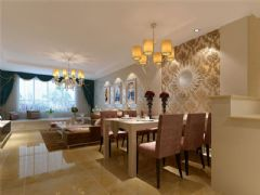 成都尚层装饰别墅装修欧美风格案例欣赏(十五)欧式餐厅装修图片