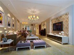 成都尚层装饰别墅装修欧美风格案例欣赏(十五)欧式客厅装修图片