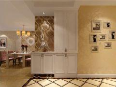 成都尚层装饰别墅装修欧美风格案例欣赏(十五)欧式玄关装修图片