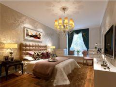成都尚层装饰别墅装修欧美风格案例欣赏(十五)欧式卧室装修图片