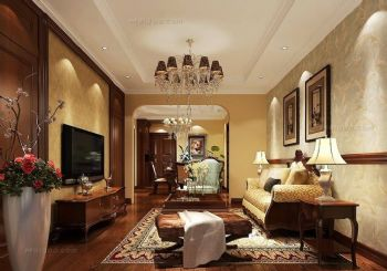 电视背景墙效果图简约客厅装修图片
