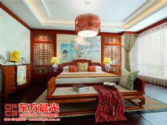 中式别墅装修设计极富浪漫情调-东方晨光中式卧室装修图片