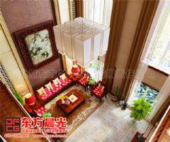中式别墅装修设计极富浪漫情调-东方晨光中式客厅装修图片