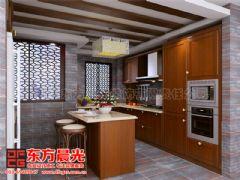 中式别墅装修设计极富浪漫情调-东方晨光中式厨房装修图片