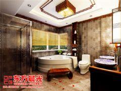 中式别墅装修设计极富浪漫情调-东方晨光中式卫生间装修图片