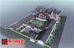 中式四合院设计展示古典风采中式风格大户型