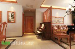 国都楚江府第中式风格123平三居室中式餐厅装修图片