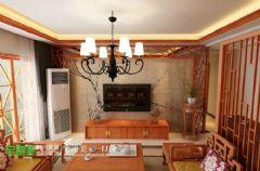 国都楚江府第中式风格123平三居室中式风格大户型