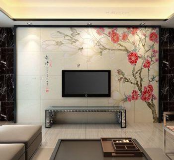 彩雕背景墙效果图现代其它装修图片