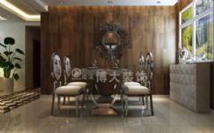 【淮南博大装饰】云景华城现代主义温馨浪漫艺术三居室现代餐厅装修图片