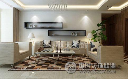 现代客厅影视墙生态木