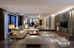 成都尚层装饰别墅装修置信丽都C区现代简约风格案例现代客厅装修图片