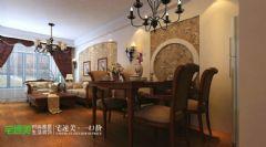 金浩仁和113平新中式三居室芜湖宅速美装饰中式餐厅装修图片