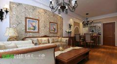 金浩仁和113平新中式三居室芜湖宅速美装饰中式客厅装修图片