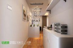 东方红郡时尚简约88平两居室现代过道装修图片